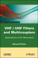 Cover image for VHF/UHF filters and multicouplers : applications of air resonators