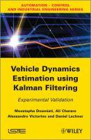 Cover image for Vehicle dynamics estimation using Kalman filtering : experimental validation