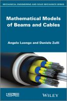 Cover image for Mathematical models of beams and cables