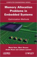 Cover image for Memory allocation problems in embedded systems : optimization methods