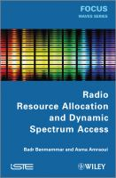 Cover image for Radio resource allocation and dynamic spectrum access