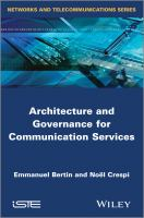 Cover image for Architecture and governance for communication services