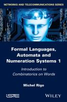 Cover image for Formal languages, automata and numeration systems 1