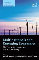 Cover image for Multinationals and emerging economies : the quest for innovation and sustainability