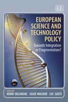 Cover image for European science and technology policy : towards integration or fragmentation?