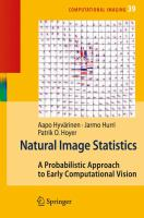 Cover image for Natural image statistics : a probabilistic approach to early computational vision