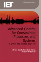Cover image for Advanced control for constrained processes and systems