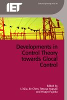 Cover image for Developments in control theory towards glocal control