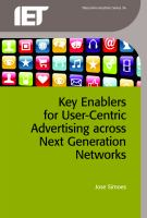 Cover image for Key enablers for user-centric advertising across next generation networks