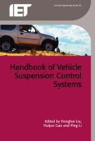 Cover image for Handbook of vehicle suspension control systems