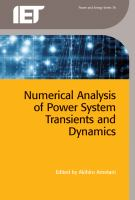 Cover image for Numerical analysis of power system transients and dynamics