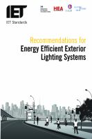 Cover image for Recommendations for energy efficient exterior lighting systems