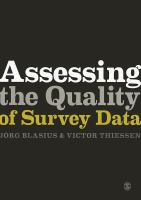Cover image for Assessing the quality of survey data