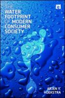 Cover image for The water footprint of modern consumer society