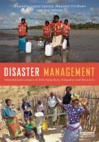 Cover image for Disaster management : international lessons in risk reduction, response and recovery
