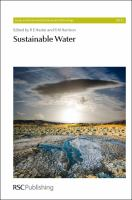 Cover image for Sustainable water