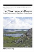 Cover image for The Water Framework Directive : action programmes and adaptation to climate change