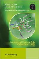 Cover image for Structural and catalytic roles of metal ions in RNA