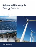 Cover image for Advanced renewable energy sources