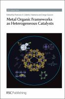 Cover image for Metal organic frameworks as heterogeneous catalysts