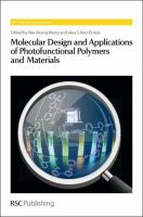 Cover image for Molecular design and applications of photofunctional polymers and materials