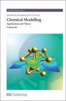 Cover image for Chemical modelling : applications and theory