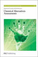 Cover image for Chemical alternatives assessments