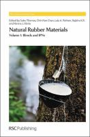 Cover image for Natural rubber materials