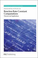 Cover image for Reaction rate constant computations : theories and applications