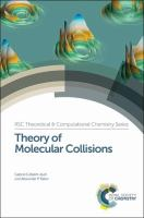Cover image for Theory of molecular collisions