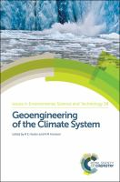 Cover image for Geoengineering of the climate system