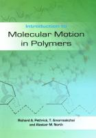 Cover image for Introduction to molecular motion in polymers