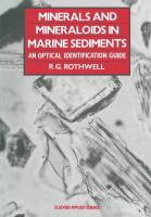 Cover image for Minerals and mineraloids in marine sediments : an optical identification guide
