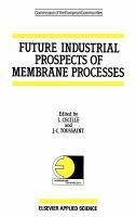 Cover image for Future industrial prospects of membrane processes
