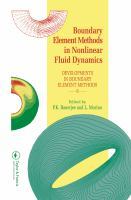 Cover image for Boundary element methods in nonlinear fluid dynamics