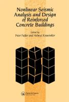 Cover image for Nonlinear seismic analysis and design of reinforced concrete buildings : proceedings