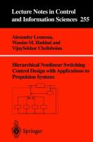 Cover image for Hierarchical nonlinear switching control design with applications to propulsion systems