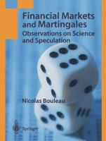 Cover image for Financial markets and martingales : observations on science and speculation