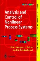 Cover image for Analysis and control of nonlinear process systems