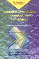 Cover image for Computer simulations in compact heat exchangers
