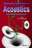 Cover image for Boundary elements in acoustics : advances and applications