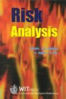 Cover image for Risk analysis