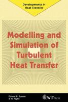 Cover image for Modelling and simulation of turbulent heat transfer