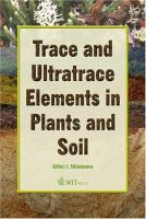 Cover image for Trace and ultratrace elements in plants and soil