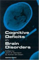 Cover image for Cognitive deficits in brain disorders