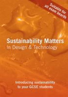 Cover image for Sustainability matters in design and technology