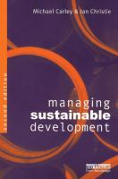 Cover image for Managing sustainable development