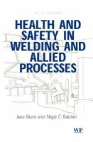 Cover image for Health and safety in welding and allied processes