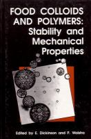 Cover image for Food colloids and polymers : stability and mechanical properties
