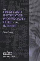 Cover image for The library and information professional's guide to the internet